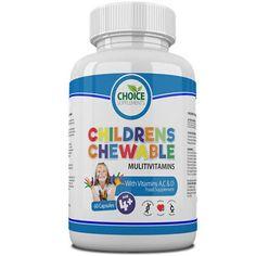 Childrens Chewable Multi Vitamins Great Taste Kids Will Love, UK Made   eBay Children's Vitamins, Chewable Vitamins, Types Of Diets, Active Ingredient, Retail Packaging, Sugar Free, Dairy Free, Conditioner, Health