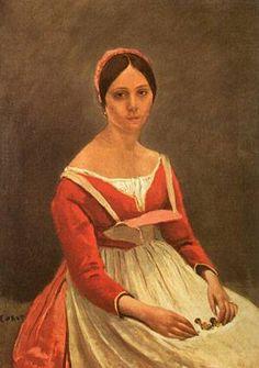 Portrait Of Mme Legois 1838  Art History Museum Vienna  Jean Baptiste Camille Corot