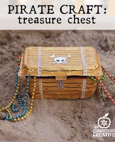 Make a pirate craft this summer! This is SO much easier than it looks!!!   treasure chest craft from recycled materials   check it out!