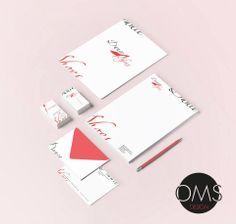 Identidad Corporativa -Carpeta corporativa -Hoja Membretada -Tarjeta personal -Sobre Dance Shoes*