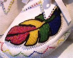 bead work and moccasins!