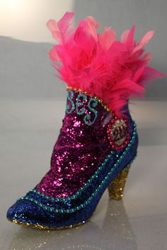 California-based artist Freda Maletsky crafted 225 bedazzled shoes ahead of Mardi Gras