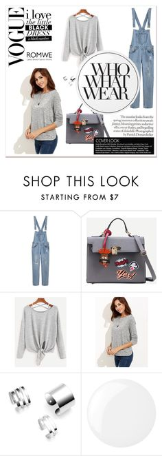 """""""Romwe 7"""" by zerina913 ❤ liked on Polyvore featuring Essie, Who What Wear and romwe"""