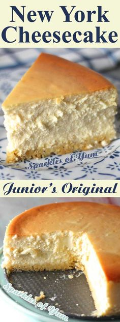 This recipe for New York cheesecake is the magic formula used by Junior's bakery in NYC since the to make their world famous cheesecake! recipes classic recipes easy recipes easy homemade recipes easy philadelphia recipes new york recipes no bake Köstliche Desserts, Delicious Desserts, Dessert Recipes, Yummy Food, Health Desserts, Jr Cheesecake Recipe, Worlds Best Cheesecake Recipe, Original Cheesecake Recipe, New York Baked Cheesecake