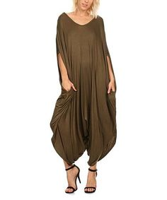 Love this Olive Harem Jumpsuit - Plus Too on #zulily! #zulilyfinds
