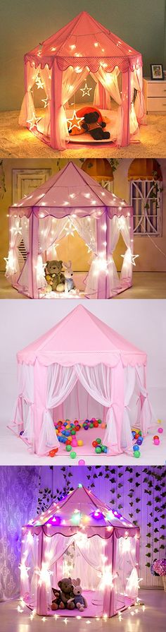 Play Tents 145997 Kids Princess Play Tent Indoor Girls Large Playhouse Child Toddler Gift Ideas & Play Tents 145997: Princess Castle Toddler Playhouse Little Girls ...