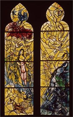 Adam and Eve expelled from Paradise - Marc Chagall