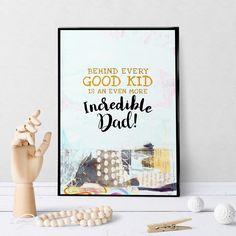 1223 Good Kid, Great Dad Art Smudging, Cool Kids, Dads, Greeting Cards, Shapes, Art Prints, Frame, Artwork, Art Impressions