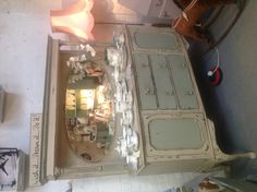 Lovely old shabby chic, Victorian sideboard  painted in Annie Sloan