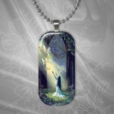 Glass Pendant - Rectangle - Calling all Fairies $12.00 www.artfire.com/...