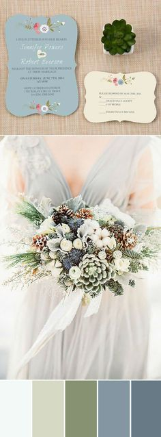 elegant neutral wedding bouquets and invitations