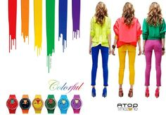 Bu kış Atop renkleri için yeterince cesur musun?? :) www.AtopTimeZone.com  #saat #renkli #aksesuar #stil