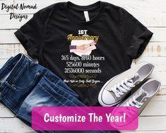 First Anniversary Gift T-Shirt, 1 Year Anniversary Gift, Wedding Anniversary Shirt, One Year Anniversary Gift, First Anniversary Shirt Anniversary Gifts For Couples, 1st Anniversary, Dog Mom Shirt, T Shirt, Cupcake Shirt, Pun Shirts, Dog Mom Gifts, Gift Wedding, Etsy