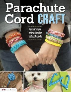 Review: Parachute Cord Craft. This is great for newbies and kids. IMO: The dog leash and collar are worth buying the book alone!!