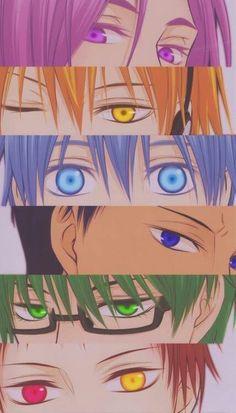 Kuroko's Basketball / Kuroko no Basket (黒子のバスケ) Manga Anime, Anime Eyes, Anime Art, Basketball Drawings, Basketball Anime, Basket Anime, Aomine Kuroko, Akashi Seijuro, Kuroko No Basket Characters