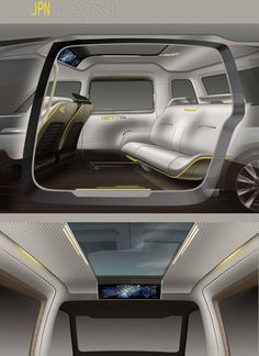 Toyota JPN Taxi Concept - Interior Design Sketches - Car Body Design