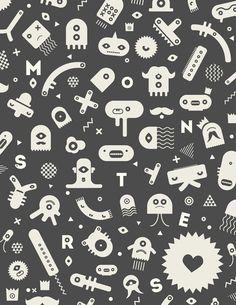 FREE printable monster poster - cute monsters
