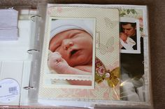 This would be a little ambitious for me but it is a wonderful example of a Baby's First Year memory album