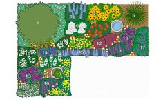 Bepflanzungsplan immer grün