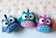 A bunch of happy owls plushies by yael360.deviantart.com
