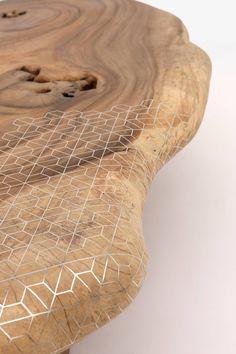 Organic + geometric coffee table by Nada Debs   Flodeau.com
