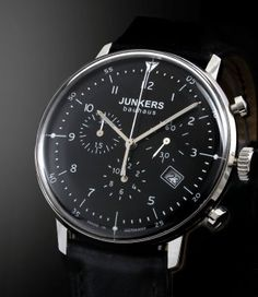 WatchMann.com Military Watches and Pilot Watches: Junkers Bauhaus Chronograph Watch 6086-2