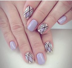 Classy Winter Nails Art Design To Inspire 07 Classy Nails, Cute Nails, Pretty Nails, My Nails, Plaid Nails, Striped Nails, Pink Nail Colors, Purple Nails, Classy Nail Designs