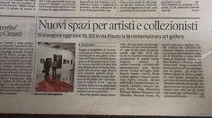 Inaugurazione M Contemporary Art Gallery, sulla Gazzetta di Reggio: un nuovo ed entusiasmante progetto, che ha preso il via con #Growing  https://www.facebook.com/mirabilia.artecultura/?fref=ts