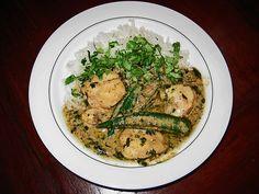Grünes Thai - Curry mit Seeteufel und Okraschoten