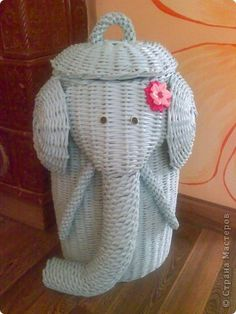 Поделка изделие Плетение Слон Бумага газетная фото 2