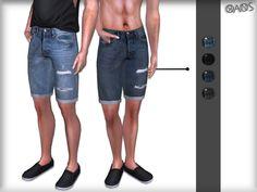 Sims 4 CC, oranostr: Denim Shorts - EA Mesh ( Edit ) - 4...