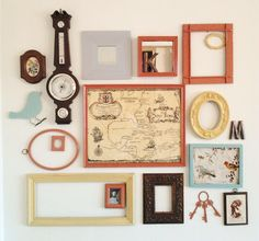 Picture frame wall display/ DIY headboard