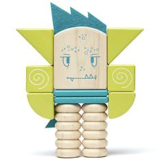 Zip Zap is a Sticky Monster who loves peace and quiet.  Tegu Sticky Monsters Zip Zap is a silly looking fellow to put together in many imaginative way. Ages 1 to 6 years.