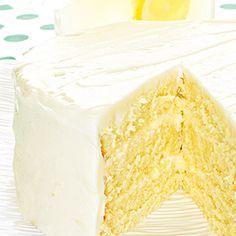 Zesty Lemonade Layer Cake recipe #BiteMeMore Lemon Desserts, Lemon Recipes, Sweets Recipes, Just Desserts, Baking Recipes, Delicious Desserts, Pie Cake, No Bake Cake, Layer Cake Recipes