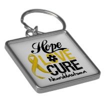 Neuroblastoma Cancer Hope Love Cure Keychain by cancerapparel