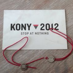 Just got our KONY 2012 bracelets in the mail. One week until cover the night..   #kony