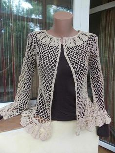 Plus Size Scalloped Border Crochet Cardigan cream size L … Love this Fashionable Scalloped Border Crochet Cardigan. Shop for Scallop-Trim Crochet Cardigan and more Plus Size Sweaters from fullbeauty. This Pin was discovered by İlk Likes, 10 Comments - Crochet Cocoon, Gilet Crochet, Crochet Coat, Crochet Cardigan Pattern, Crochet Jacket, Vest Pattern, Crochet Blouse, Crochet Clothes, Blouse Models