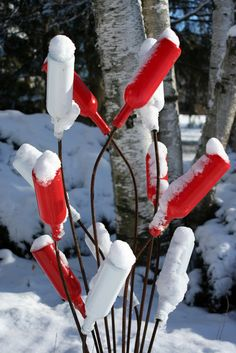 Bottle Tree Creations for Your Garden from Wisconsin