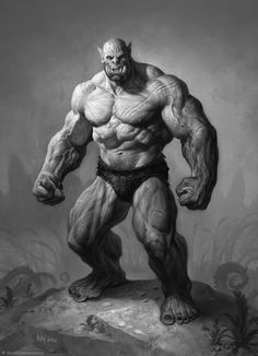 Ogre d&d ArtStation - The Art of Warcraft Film - Orcs, Wei Wang Warcraft Film, Art Warcraft, World Of Warcraft Orc, Dnd Characters, Fantasy Characters, Fantasy World, Fantasy Art, Character Concept, Character Art