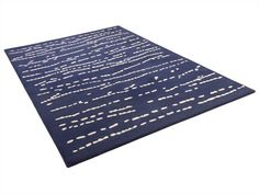 Patterned handmade rug GROOVE by ASPLUND | design Helene Backlund