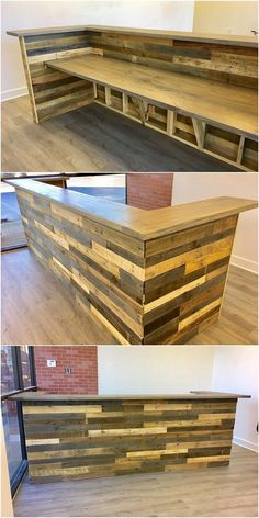Having the placement of the pallet counter table in your house is a perfect idea to provide them a suitable place for the bar serving purposes. To have such unique counter table in their house, choosing with this trendy designed wood pallet table is the ultimate idea for you.