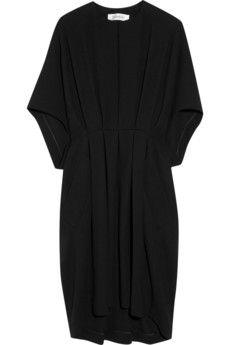 YVES SAINT LAURENT Pleated wool-crepe dress