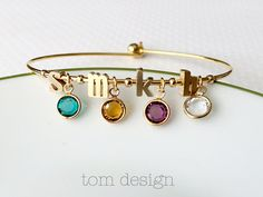 Build Your Own Birthstone Bracelet Personalized by TomDesign