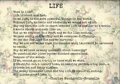 Poem about LIFE by Charles Montgrain-Brunelle #POEM #LIFE