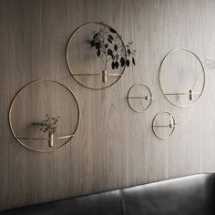 Note Design Studio designs the POV collection for Danish house Menu. Vases + Candleholders in a range of sizes available in black steel or brass finshes. Circle Shape, Circle Design, Small Circle, Candlesticks, Wall Art Decor, Wall Decorations, Metal Wall Decor, Tea Lights, Living Room Designs