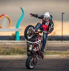Ninja 636 Red Black Stunt Bike