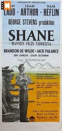 western movie inserts | Shane 1953 Movie poster Alan Ladd/Jean Arthur/Jack Palance
