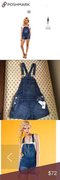 Dittos overall shorts NWT Dittos overall shorts from Saks Fifth Avenue.  NWT size XS.                                                              Soft jean overalls with five pocket design, racerback,  and side button closures.  - Two side pockets, two back pockets, and front chest pocket  - Adjustable straps  - 72% Lyocell, 28% Polyester  - Machine wash cold Dittos Other