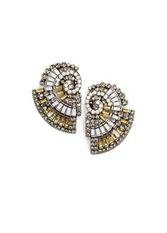 TOUCH - Crystals shell earrings