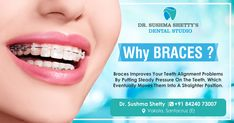 Wanna Improve Your Teeth Alignment? Get Your Orthodontic Treatments Done At Dr Sushma Shetty's Dental Studio For Appointment : 84240 73007 Vakola, Santacruz Teeth Alignment, Dental Services, Orthodontics, Dental Care, Facebook Sign Up, Dentistry, Braces, Appointments